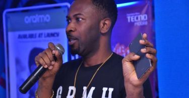 ruggedman talking at tecno boom j8 launch event