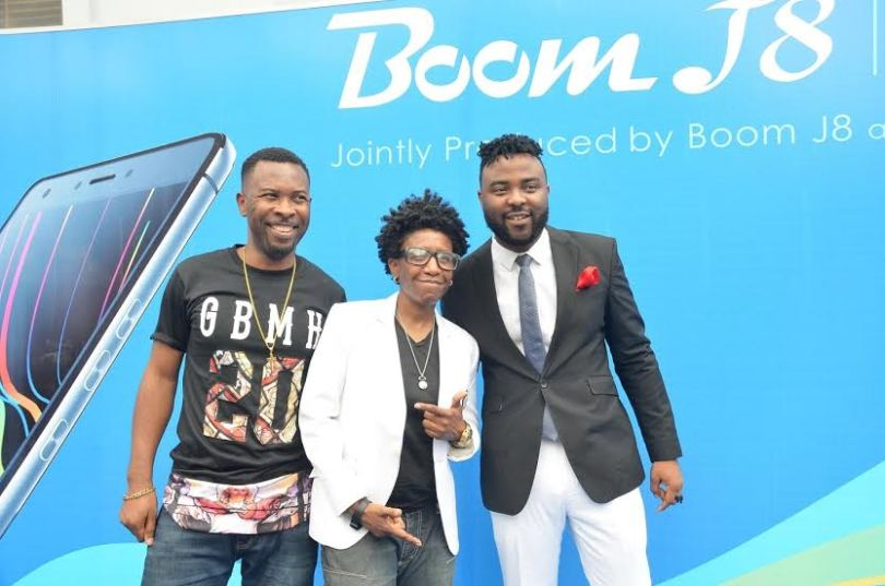 ruggedman, weirdmc and vjadams at tecno boom j8 launch