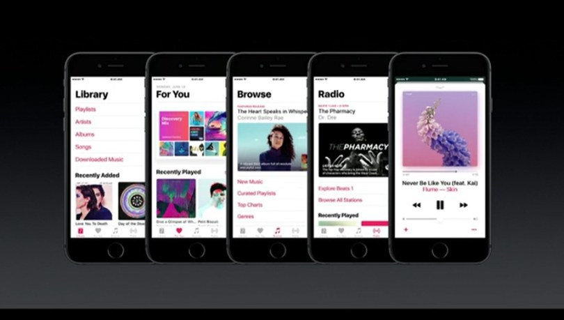 the music app has been redesigned