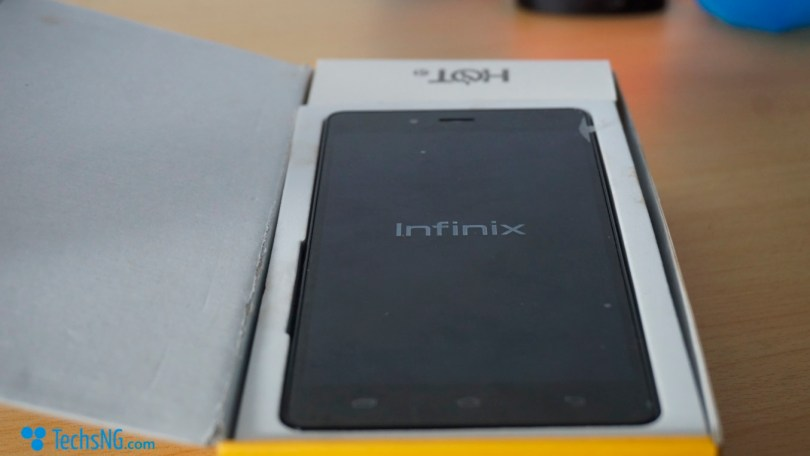 infinix hot 4 unboxing step 1