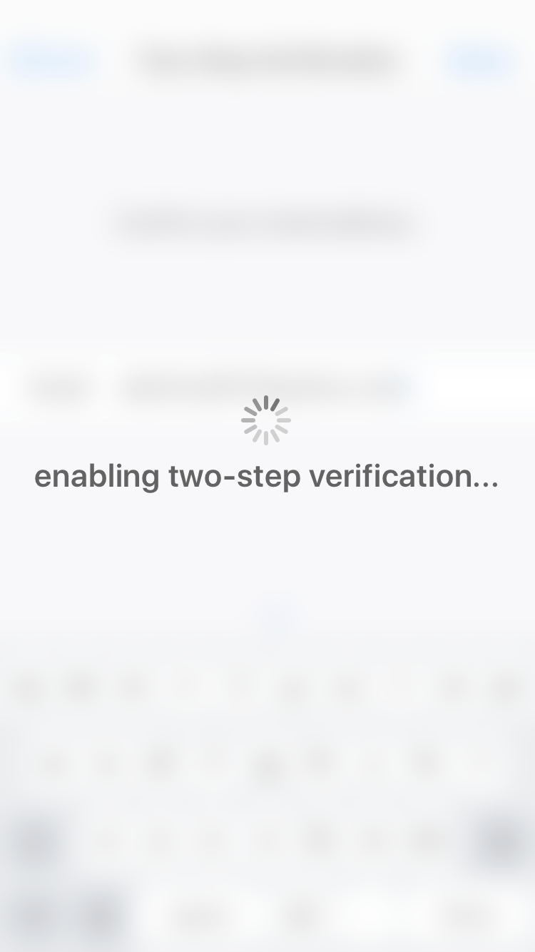 Whatsapp two step authentication activated