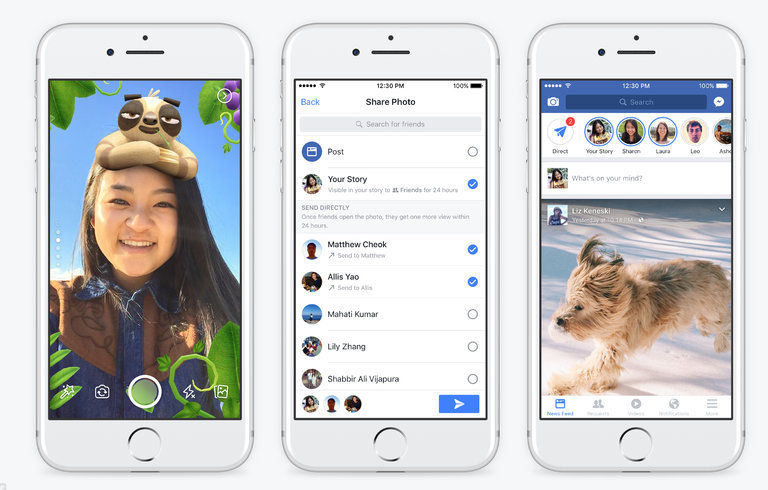 Facebook stories available on main app