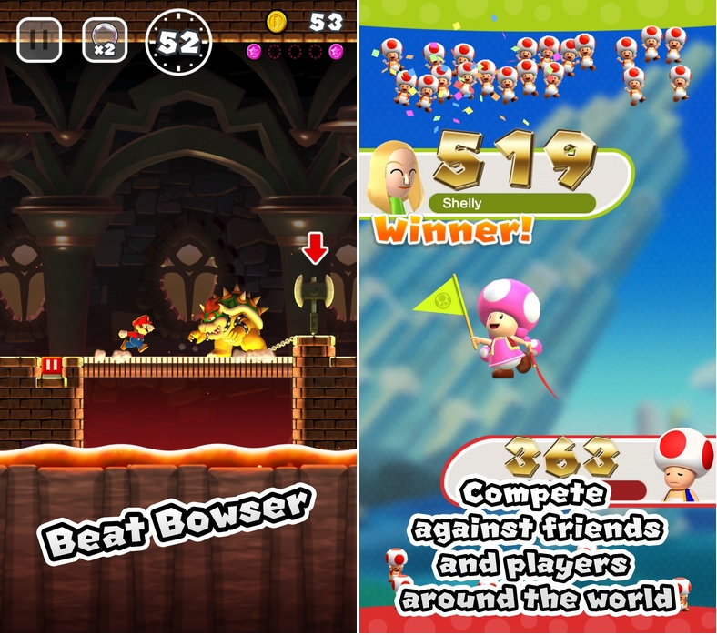 Super mario run browser challenge