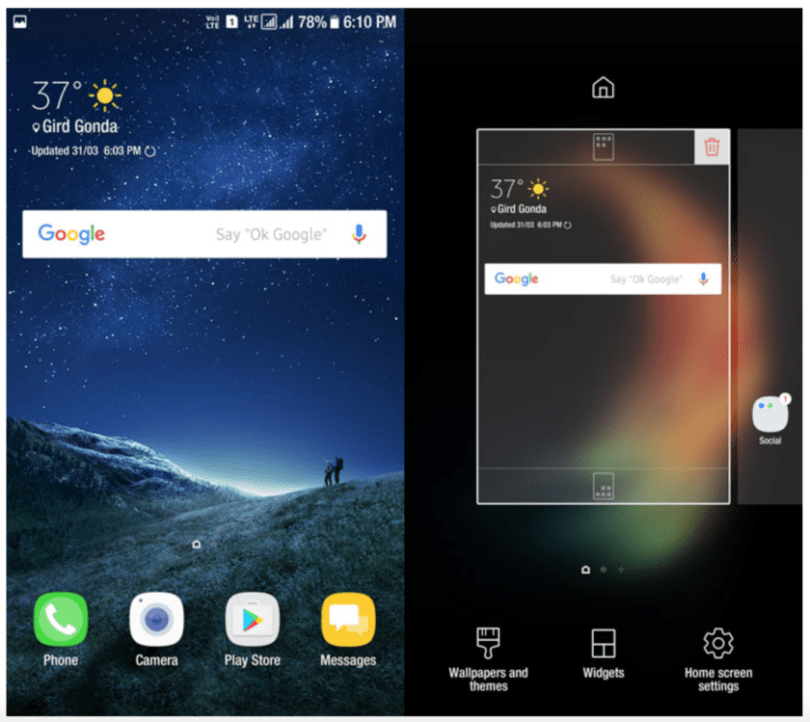 Samsung galaxy s8 launcher