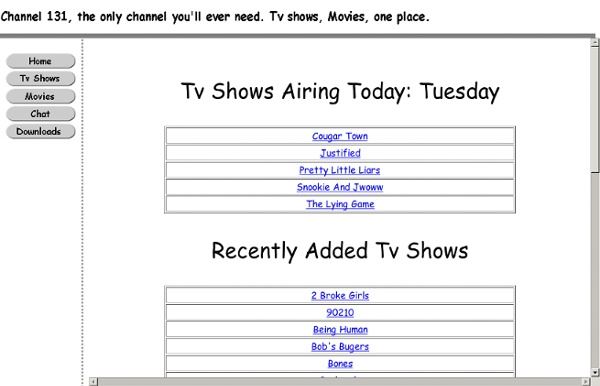 Ch131 watch tv shows online for free on chan131
