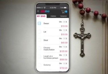 Sinmo app allows you pay for your sins with money