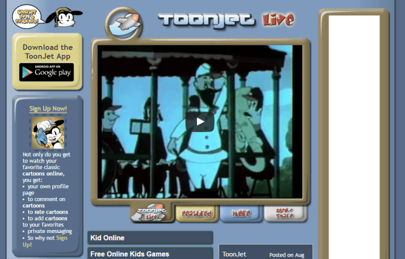 toonjet website to watch cartoons online free