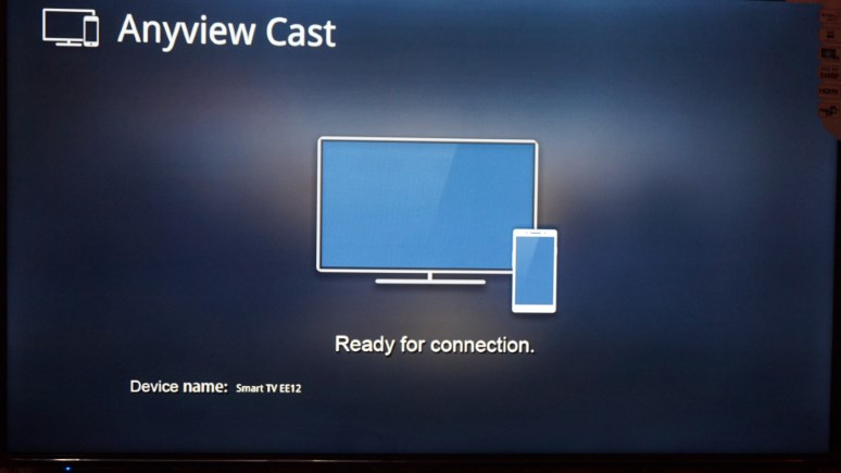 Anyview cast feature on HiSense smart TV