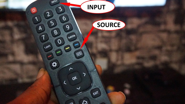 HiSense smart TV remote