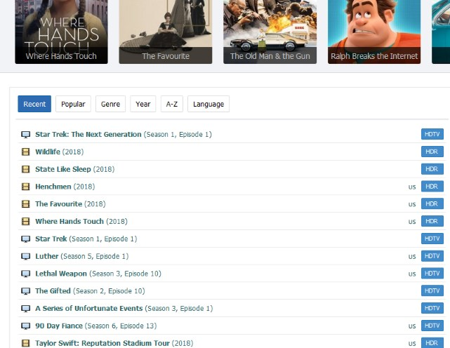goojara.ch tabs for movies and series