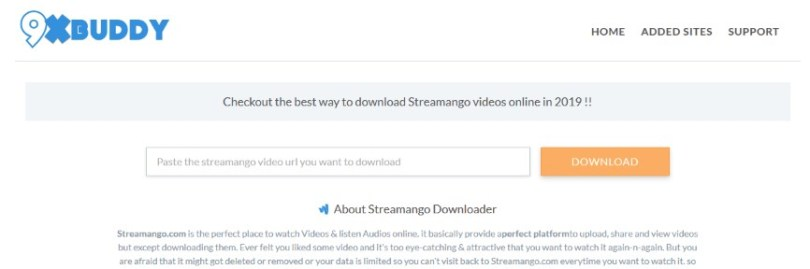9xbuddy online video download tool