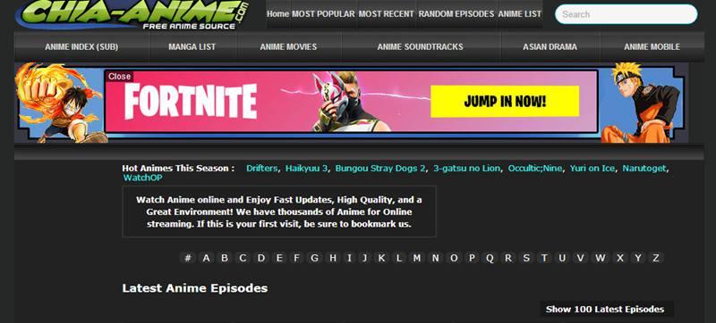Chia anime website