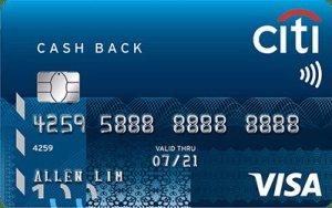 Citibank Cash Back Credit Card