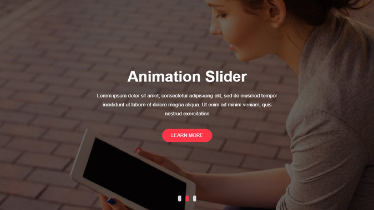 How to customize an owl carousel slider with text and image