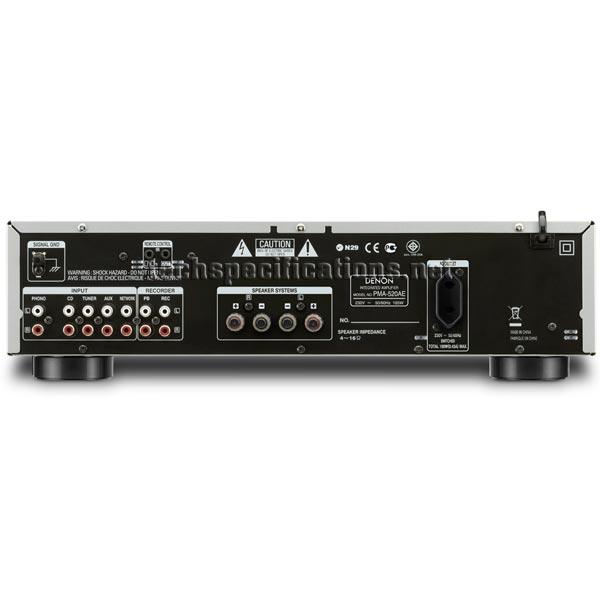 Denon PMA-720AE Amplifier Tech Specs