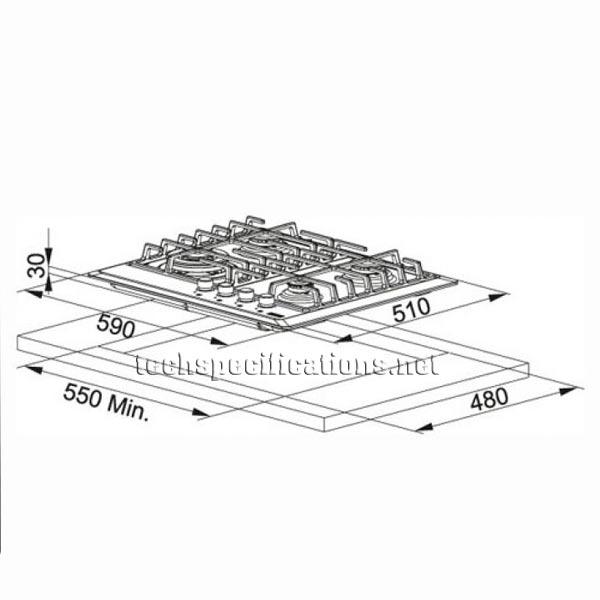 Franke FHM6043GTCXSC Built-in Hob Tech Specs