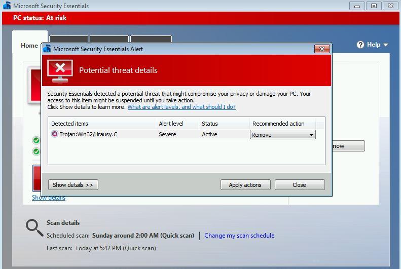 Trojan:Win32/Urausy.C