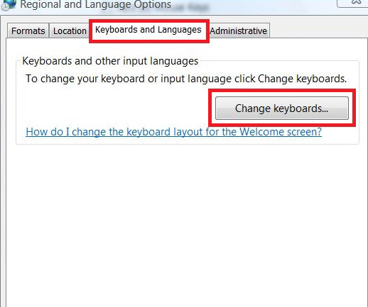 Change Keyboards