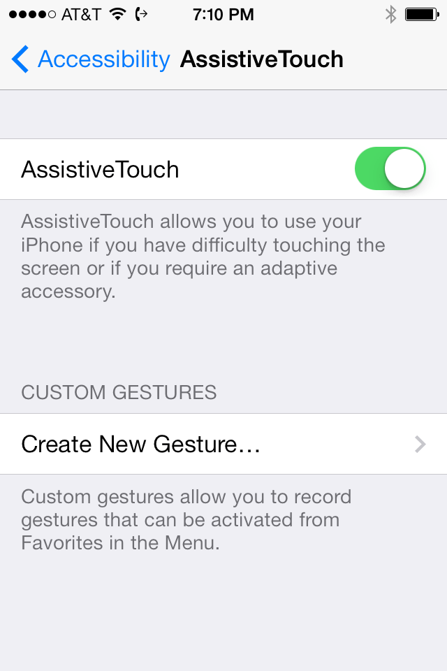 Assistive Touch