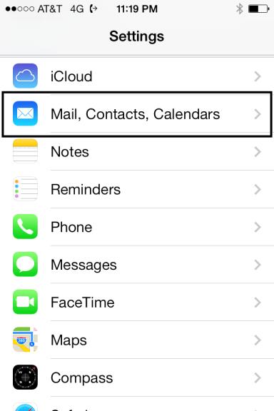 Mail Contacts Calendar
