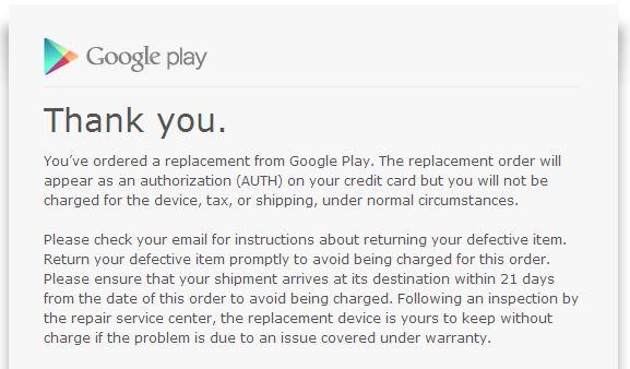 Google Play Receipt