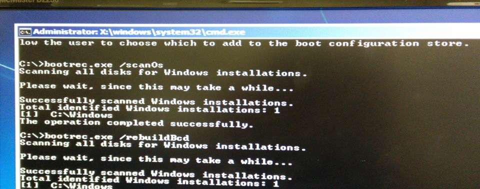 BootRec.exe Commands