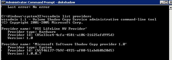 VSS Hardware ID