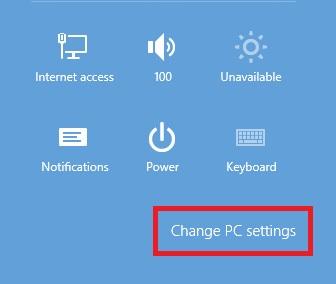 Windows 8.1Change Settings