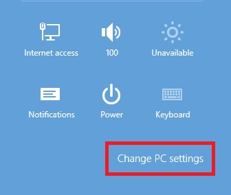 Windows 8.1Change Settings
