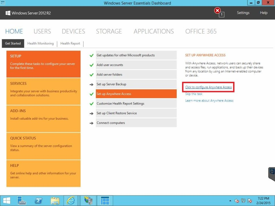 Configure Anywhere Access