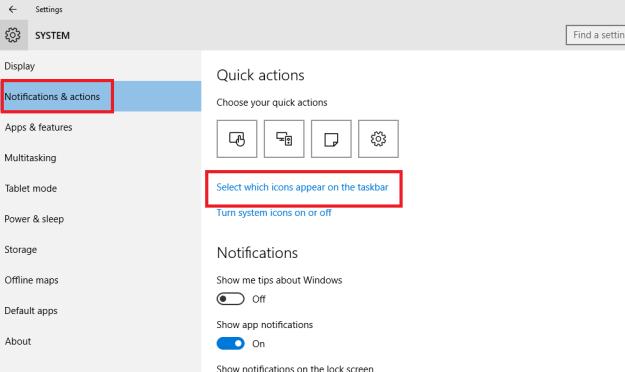 Windows 10 Notification & Taskbar