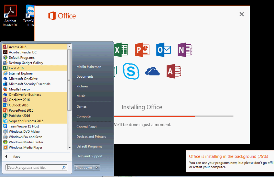 Office 2016 79Percent