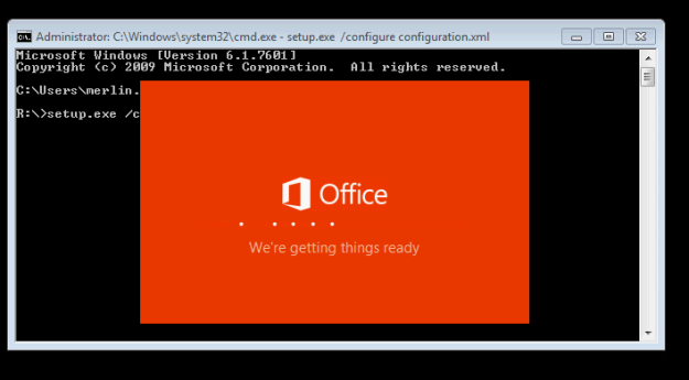 Office 2016 Installation Starting