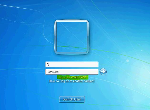 Domain Login Windows 7