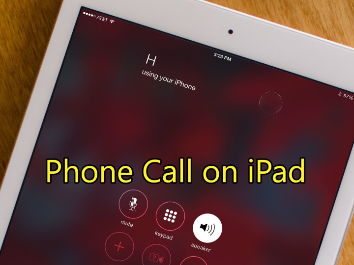 Make and Receive Phone Call on iPad or iPod Touch