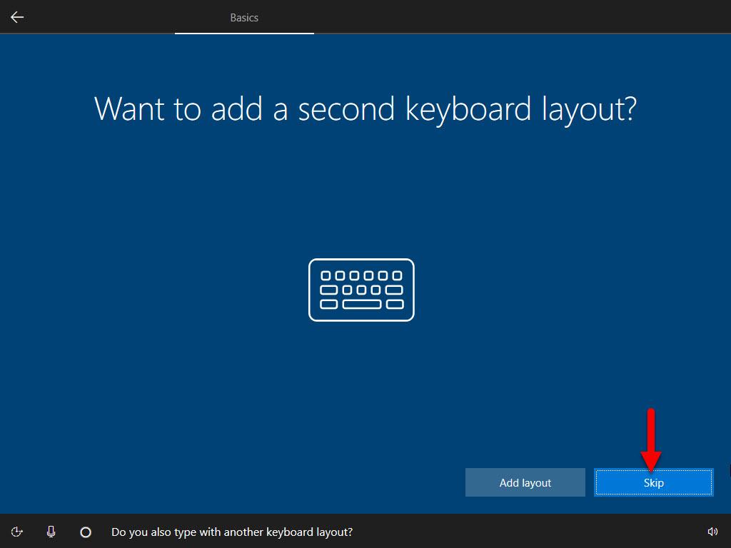 Second keyboard layout