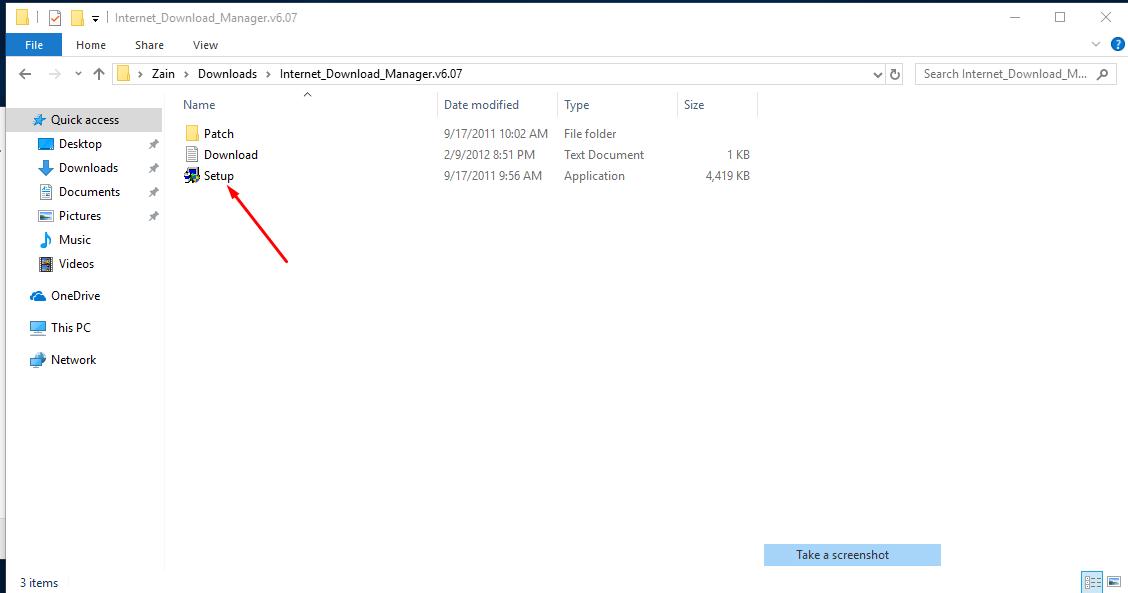 setup folder