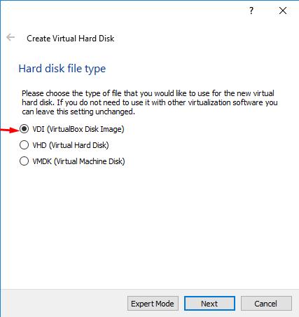 VDi image disk