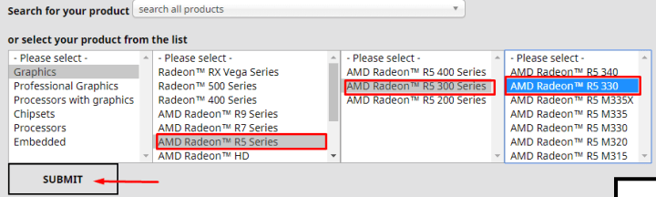 Methods of selecting Drivers