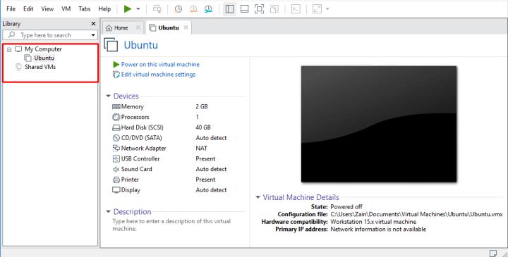 VMware virtual machine