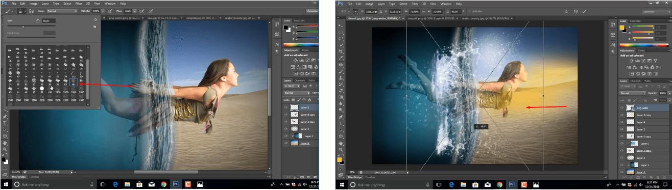 Water Brush and PNG brush editing