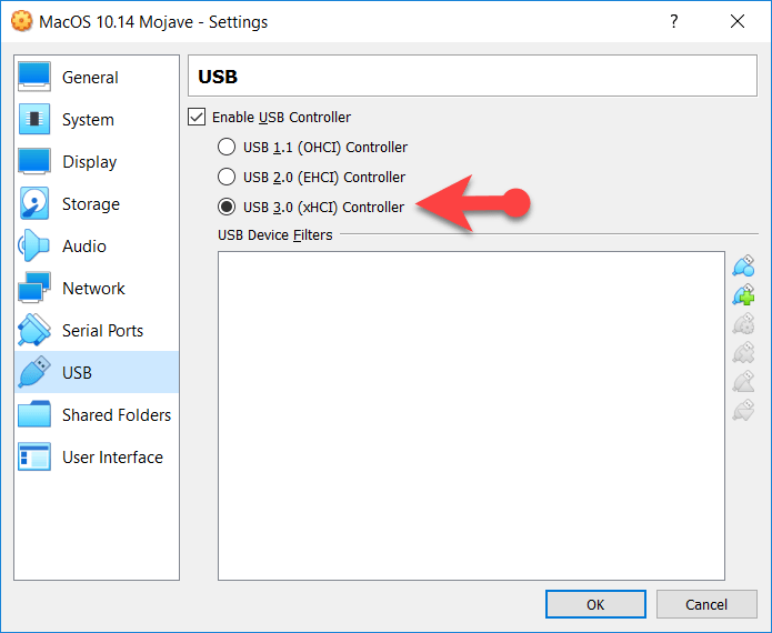 USB setting for Mouse and Keyboard