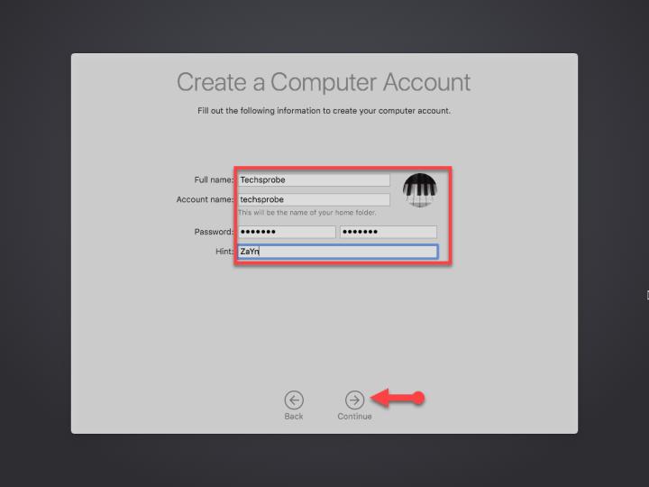 Create computer account