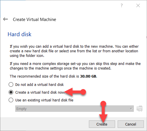 Select the Hard Disk