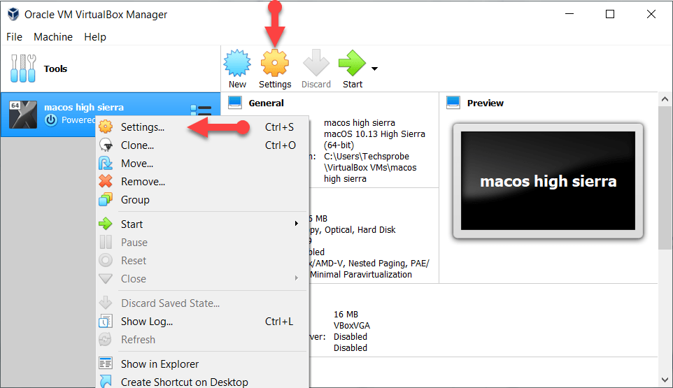 MacOS High Sierra Settings