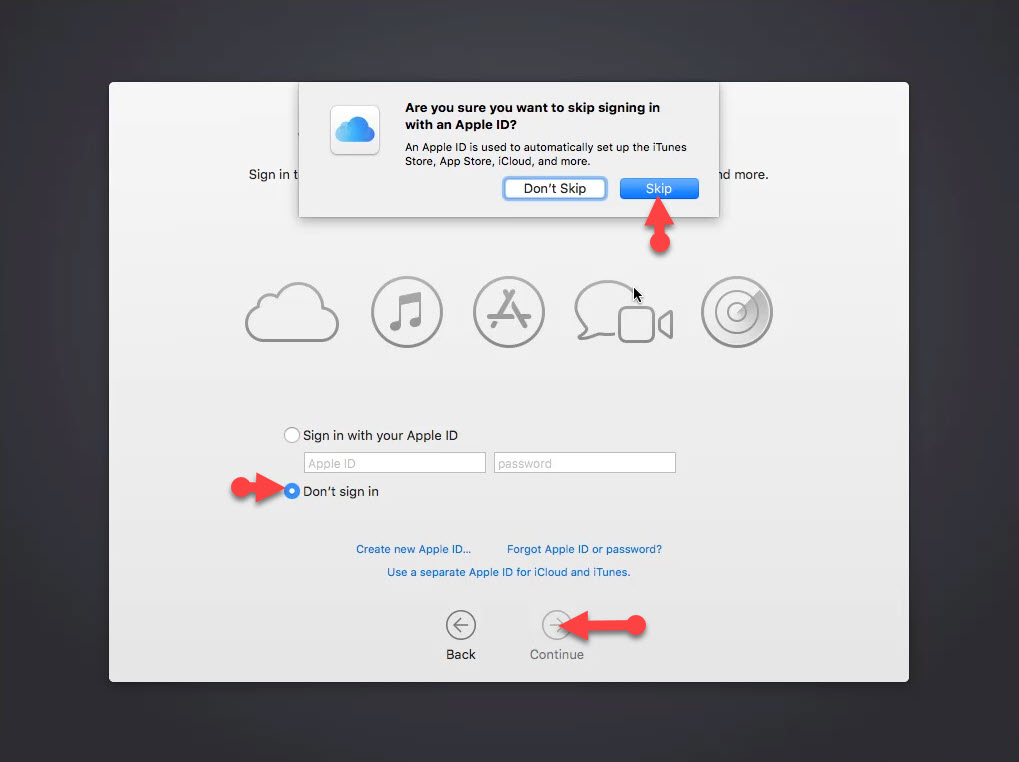 Sing into your I Cloud, Apple ID