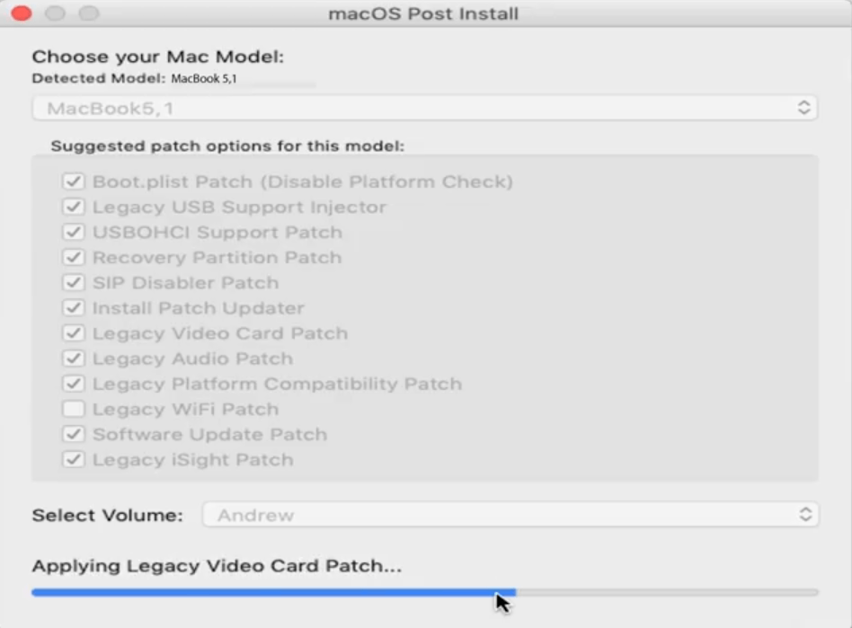 Applying Legacy Video card patch