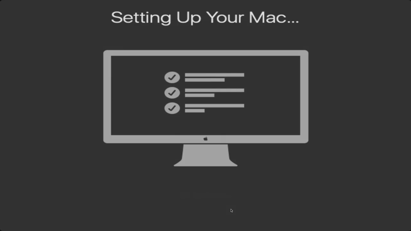 Setting up your Mac