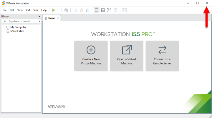 Close VMware Workstation