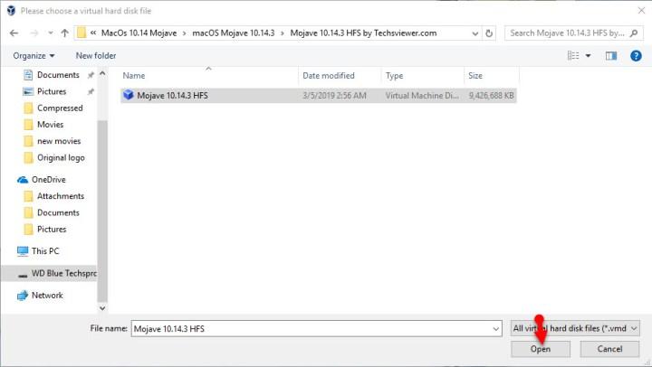 macOS Mojave HFS file